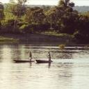 Zambezi river upstream from Victoria Falls