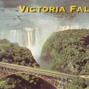 Victoria Falls. Close-up of Bridge and Armchair from air