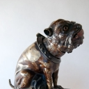 Bull Dog Cast Iron Antique Mechanical Bank