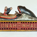 Antique Jonah and the Whale Cast Iron Mechanical Bank
