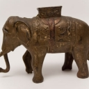 Original Elephant Swings Trunk A. C. Williams Mechanical Bank