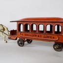 Wilkins Cast Iron Horse Drawn Broadway Lines Trolley Car