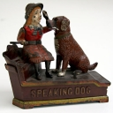 Original Shepard Hardware Co. Speaking Dog Mechanical Bank